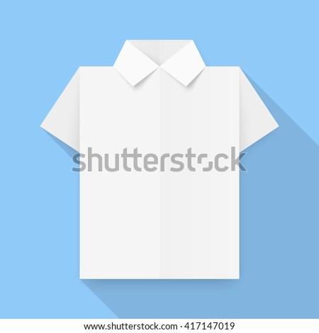 White Dress Shirt Origami Business Vector Stock Vector 417147019