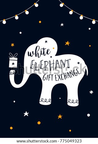 White elephant gift exchange game vector stock vector 775049323 white elephant gift exchange game vector illustration negle Image collections