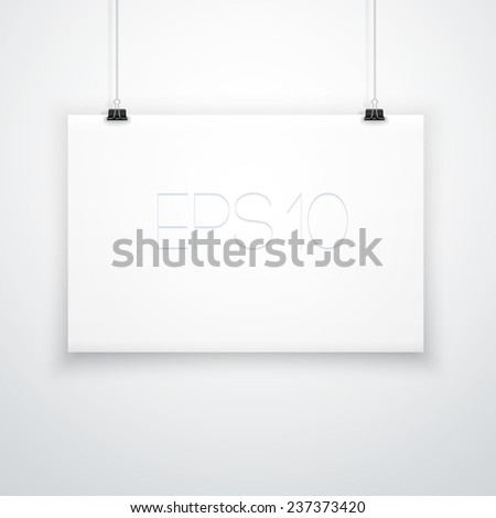 White Empty Poster Template - stock vector