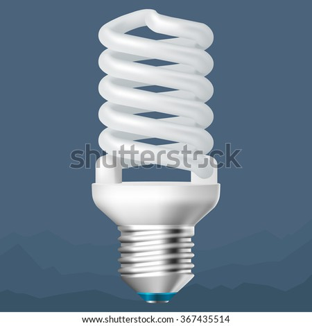White energy saving lamp - stock vector