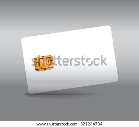 white entry card - stock vector