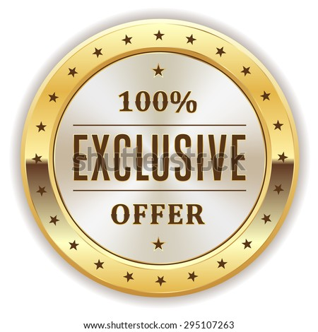 Exclusive icon stock images royalty free images vectors for Exclusive bordering