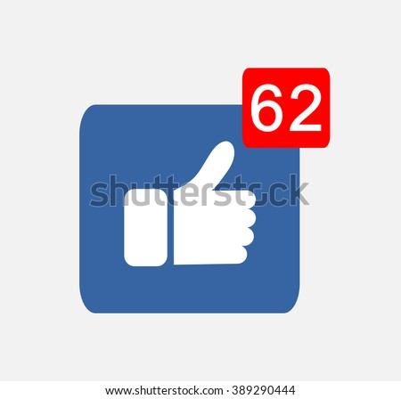 White Followers Blue Button Hand Like Icon yes facebook Vector Background, JPG, JPEG,EPS Logo design Download - stock vector