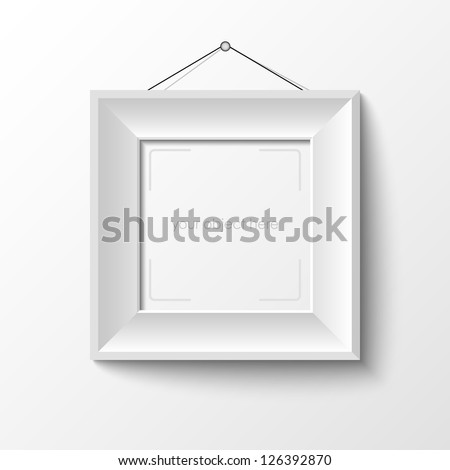 white frame for your photo or picture - stock vector
