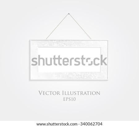 White frame vector background. - stock vector