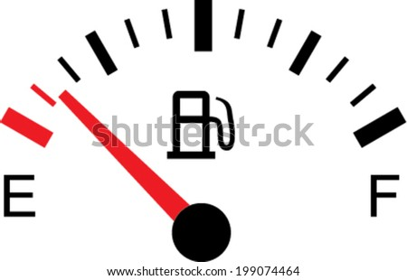 White gas tank illustration on white - Empty - stock vector