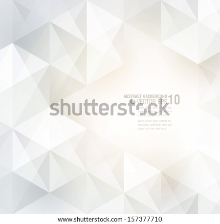 White geometric background for cover design, card design, page design. - stock vector