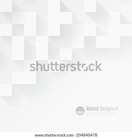 White geometric background vector. Can be used in cover design, book design, website background, CD cover, advertising. - stock vector