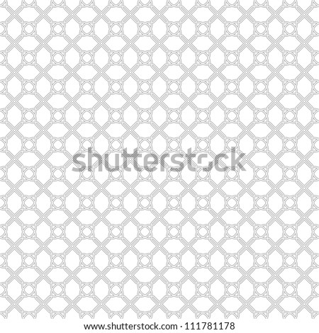 White geometric pattern, seamless - stock vector