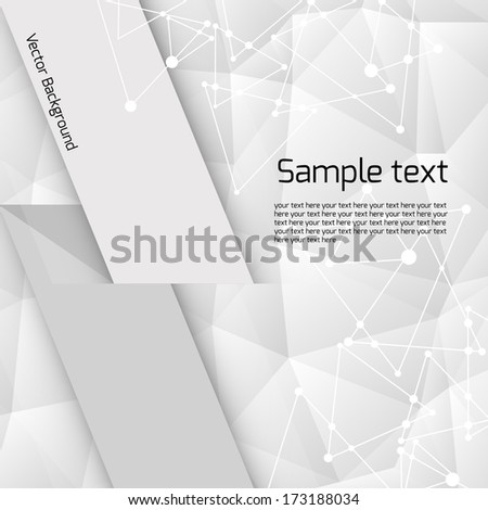 white geometric pattern with triangles and place for text