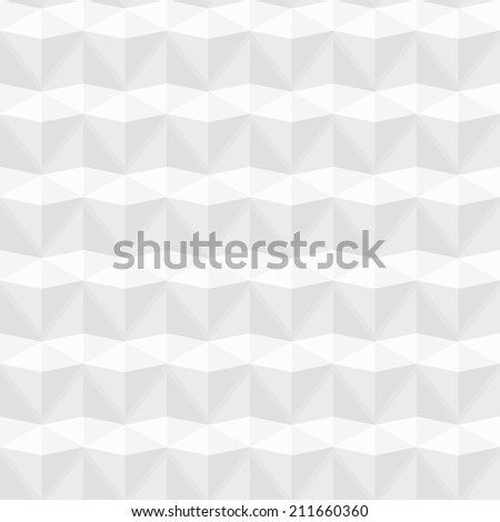 White geometric texture, vector seamless background - stock vector