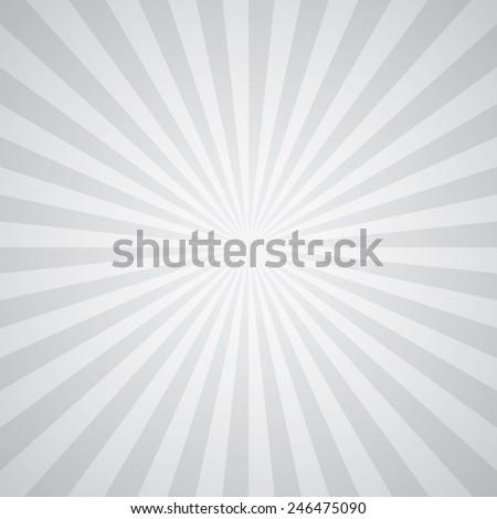white-gray color burst background. Vector illustration - stock vector