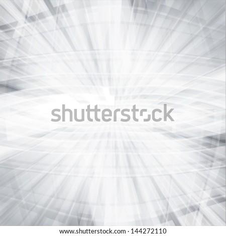 white & grey abstract perspective background, deep horizon - stock vector