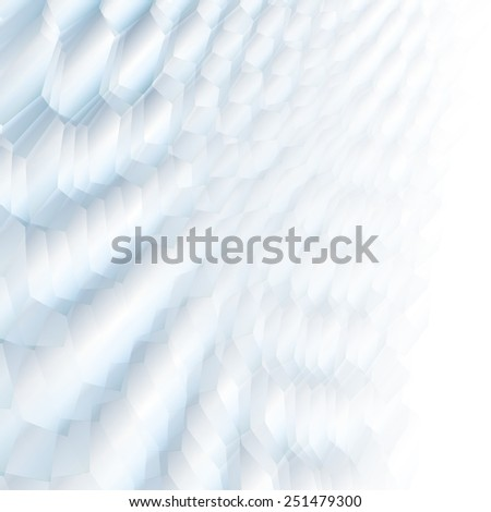 White & grey abstract perspective background with soft tones. - stock vector