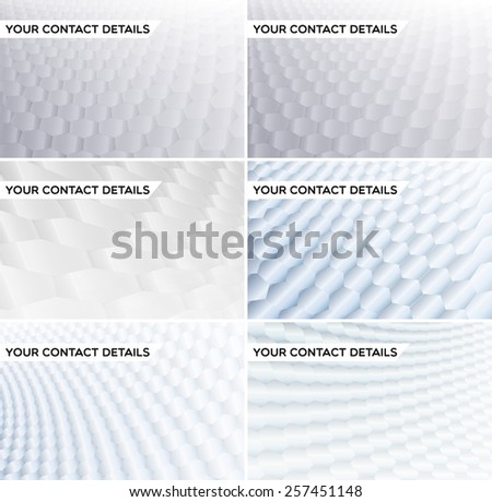 White & grey soft business card set. Abstract presentation backgrounds with soft grey tones. Ideal for cover design works. - stock vector