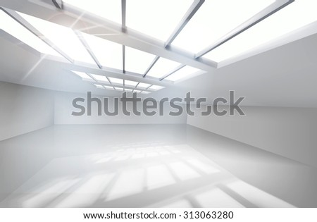 White hall. Vector illustration. - stock vector