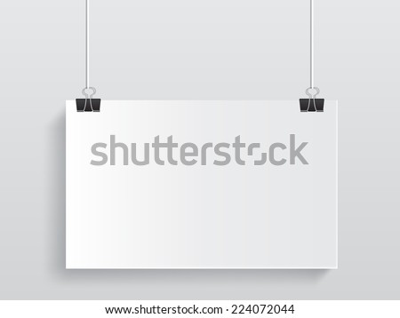 white hanging on isolated - stock vector