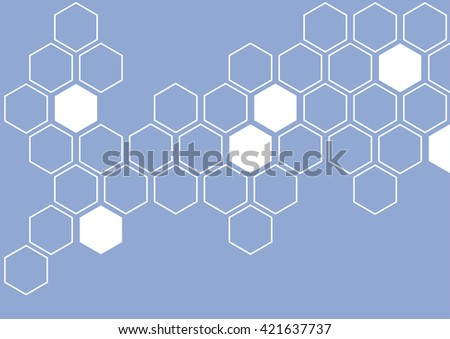 white hexagon on blue grey background wall pattern