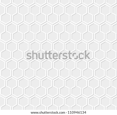 White honeycomb pattern on gray background - stock vector