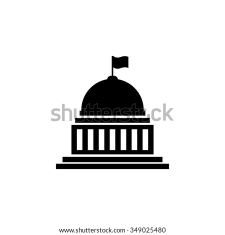 white house, congress icon  - stock vector