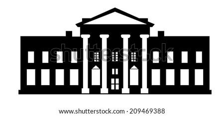 White House Washington DC - stock vector