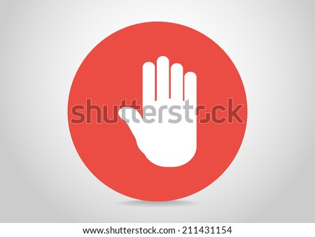 White icon of the circle - stock vector