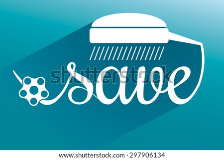 White Icon save environment and water concept. Vector - stock vector