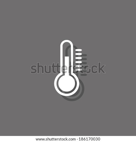 White icon, vector illustration. Flat design style  - stock vector