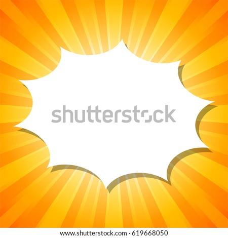 White Impress Cloud Template On Orange Stock Vector 619668050 ...
