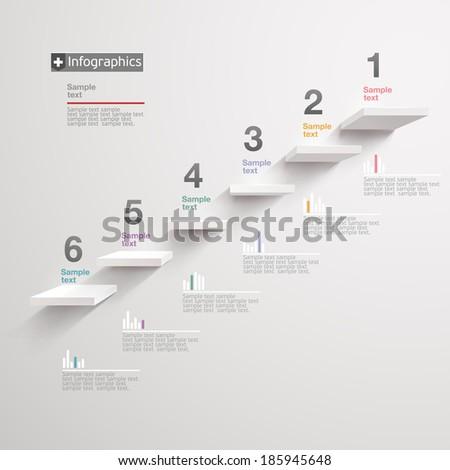 White infographics elements. - stock vector