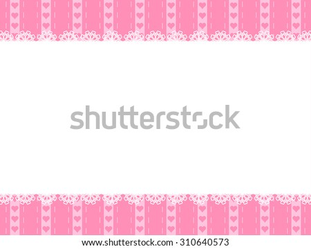 White lace and heart background