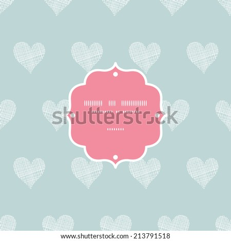 White lace hearts textile texture frame seamless pattern background - stock vector
