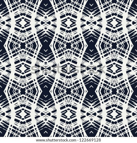 white lace on navy blue, clean and simple vector geometrical pattern, website background or fashionable textile, or holiday wrapping paper - stock vector