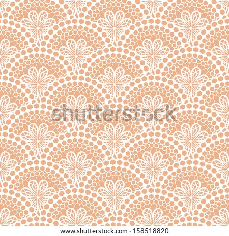 White lace pattern. Vector illustration - stock vector