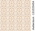 White lace seamless pattern, lacy vector texture - stock photo