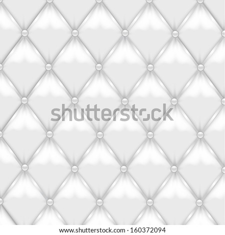 White Leather Upholstery - stock vector