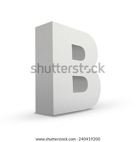 white letter B isolated on white background - stock vector