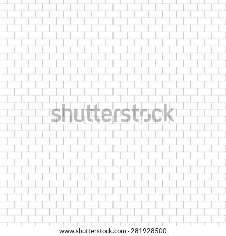 White light gray brick wall. Vector, seamless texture. - stock vector