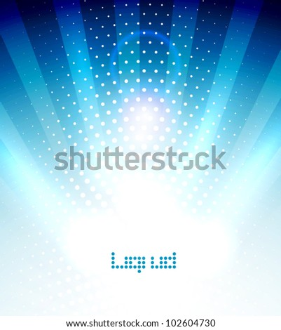 White light shiny abstract background - stock vector