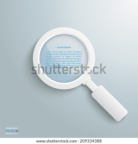 White loupe on the grey background. Eps 10 vector file. - stock vector