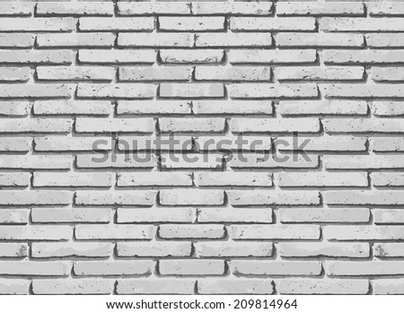 White misty brick wall for background or texture.Vector - stock vector