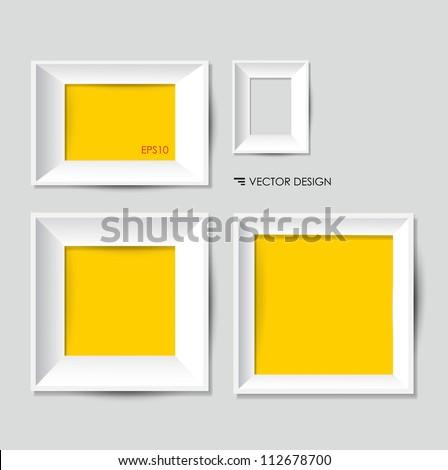 White Modern Frames On Wall Vector Vector de stock112678700 ...