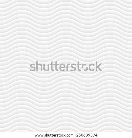White modern wavy pattern - stock vector