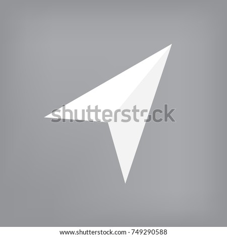 white navigation icon- vector illustration