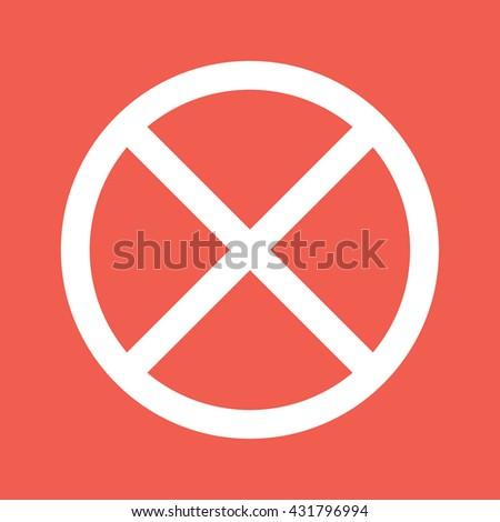 White no parking icon vector sign - stock vector