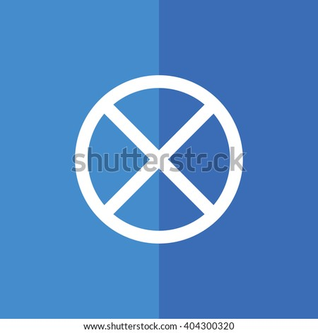White no parking vector sign. Blue background - stock vector