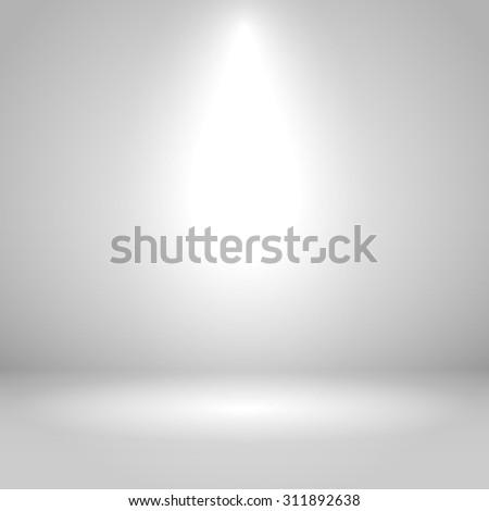 White one spotlight studio vector background.  - stock vector