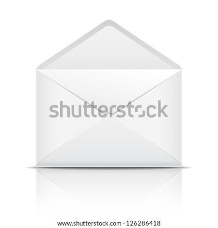 White open envelope. Vector illustration - stock vector