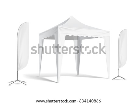 white outdoor folding party tent vector mock up  sc 1 st  Shutterstock & White Outdoor Folding Party Tent Vector Stock Vector 634140866 ...