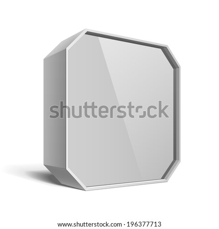 White Package Box. For Software, electronic device and other products. Vector illustration.